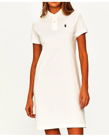 POLO RALPH LAUREN  - Basic Polo Dress - White -