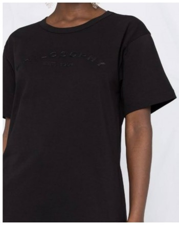 PHILOSOPHY - Cotton jersey T-shirt with logo - Black
