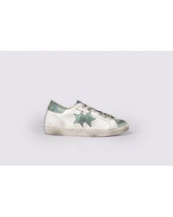 2 STAR - Sneakers 2S3031  White/LightBlue