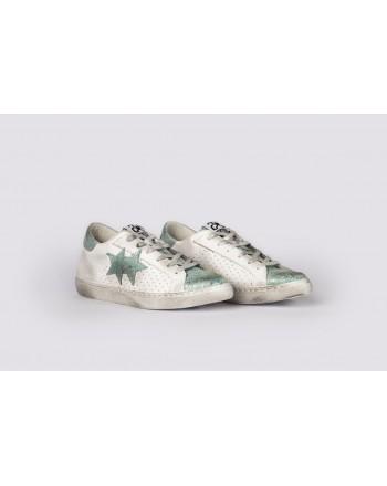 2 STAR - Sneakers  2S3031 Bianco/Celeste