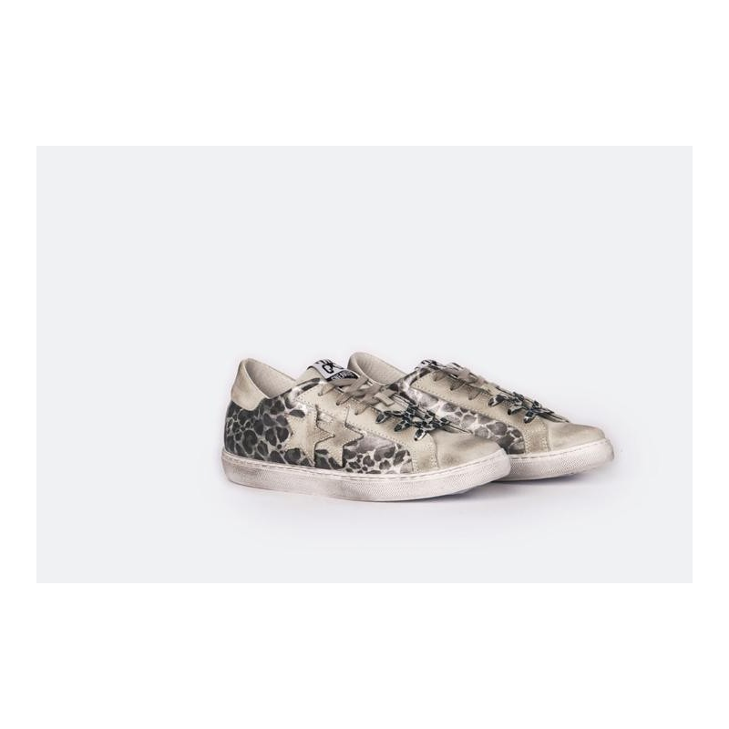 2 STAR - Sneakers 2S3014 White/Animalier