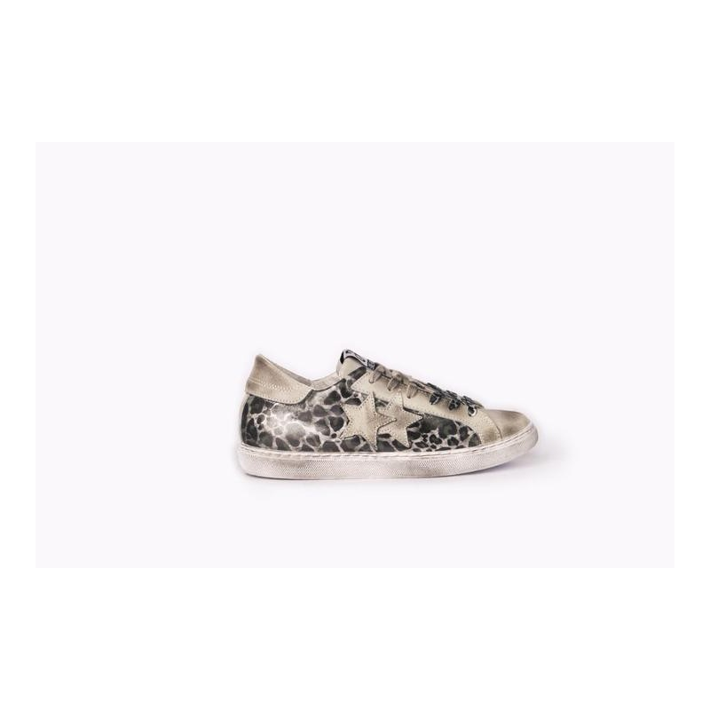 2 STAR - Sneakers  2S3014 Bianco/Maculato