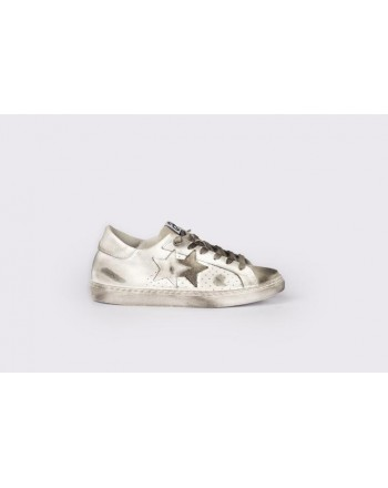 2 STAR - Sneakers  2S3025 Bianco/Ghiaccio