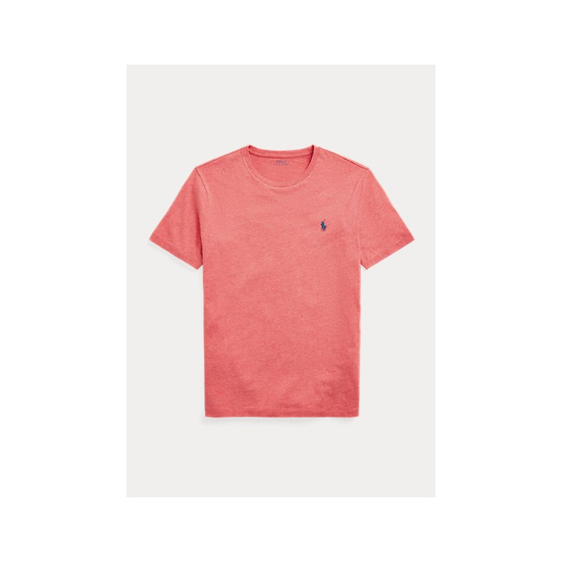 POLO RALPH LAUREN  - T-Shirt Custom Slim Basic - Carmel Pink