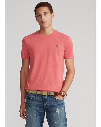 POLO RALPH LAUREN  - T-Shirt in jersey Custom Slim - Rosa
