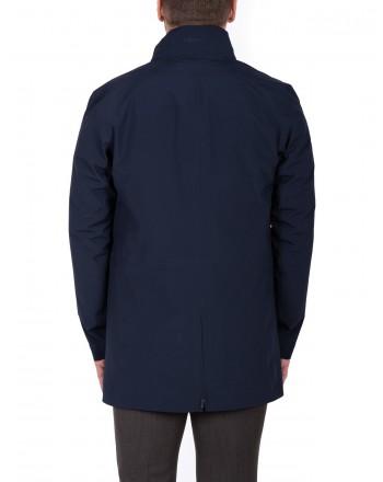 ERMENEGILDO ZEGNA - Raincoat with Flap Pockets - Blue