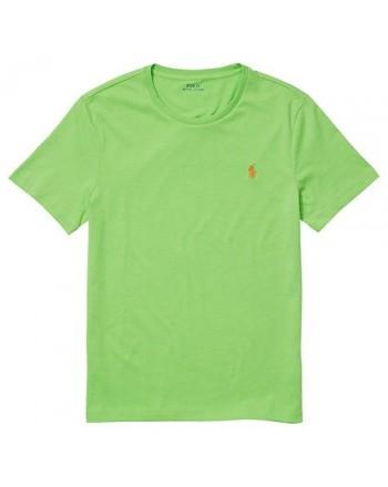 POLO RALPH LAUREN  - T-Shirt in jersey Custom Slim - Kiwi Lime