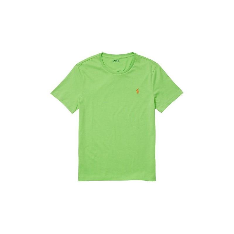 POLO RALPH LAUREN  - T-Shirt Custom Slim Basic - Kiwi Lime