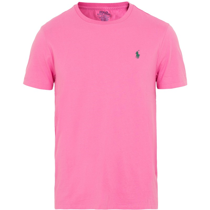 POLO RALPH LAUREN  - T-Shirt Custom Slim Basic - Maui Pink