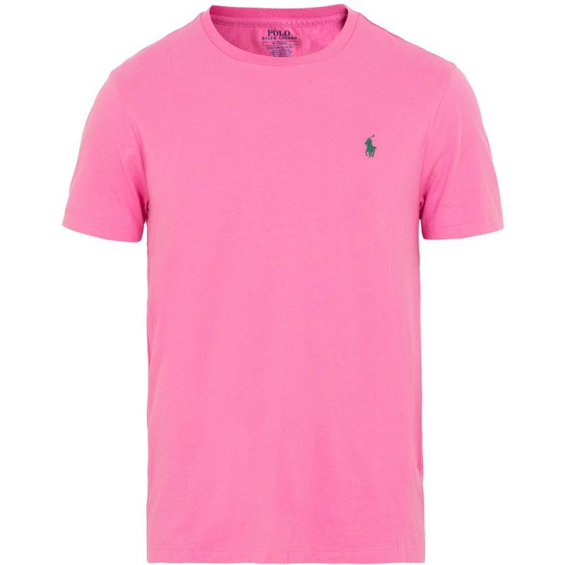 POLO RALPH LAUREN  - T-Shirt in jersey Custom Slim - Maui Pink
