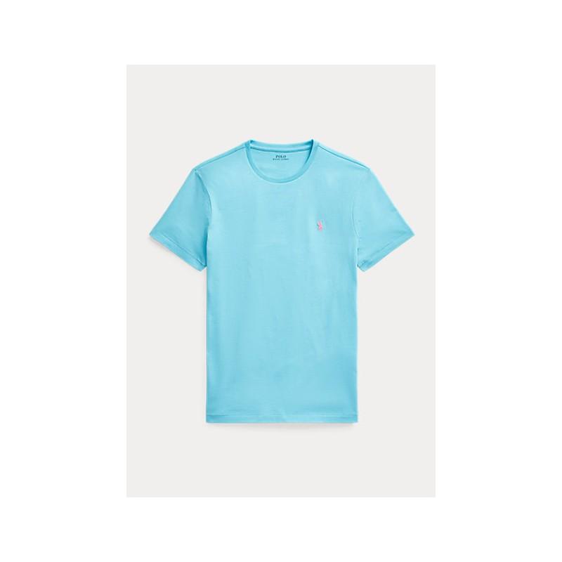 POLO RALPH LAUREN  - T-Shirt Custom Slim Basic - Heavenly