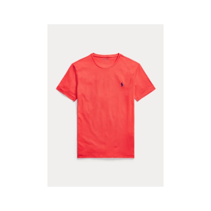POLO RALPH LAUREN  - T-Shirt Custom Slim Basic - Racing Red