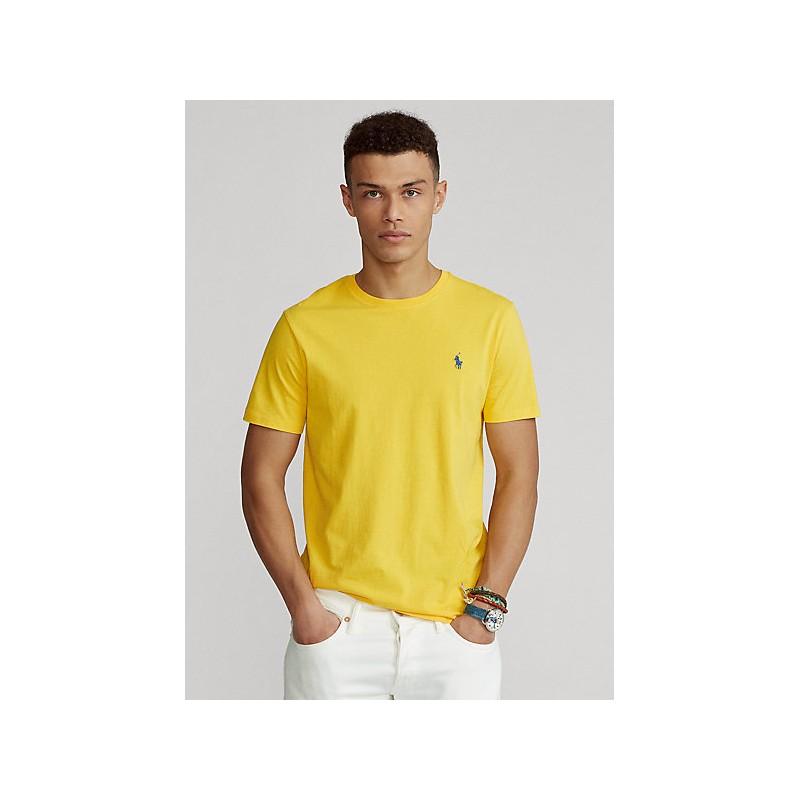 POLO RALPH LAUREN  - T-Shirt in jersey Custom Slim - Giallo