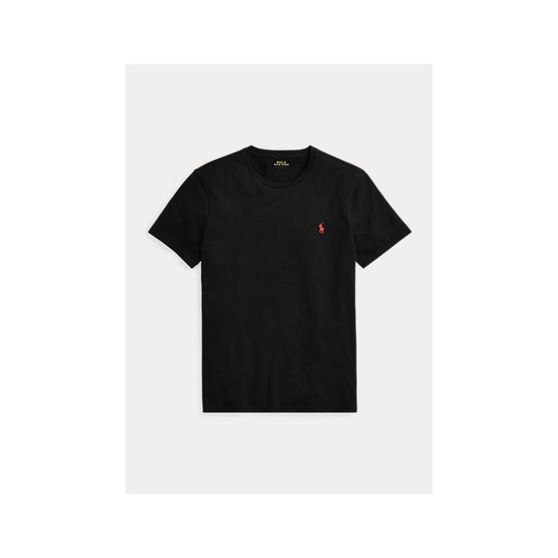 POLO RALPH LAUREN  - T-Shirt Custom Slim Basic - Black