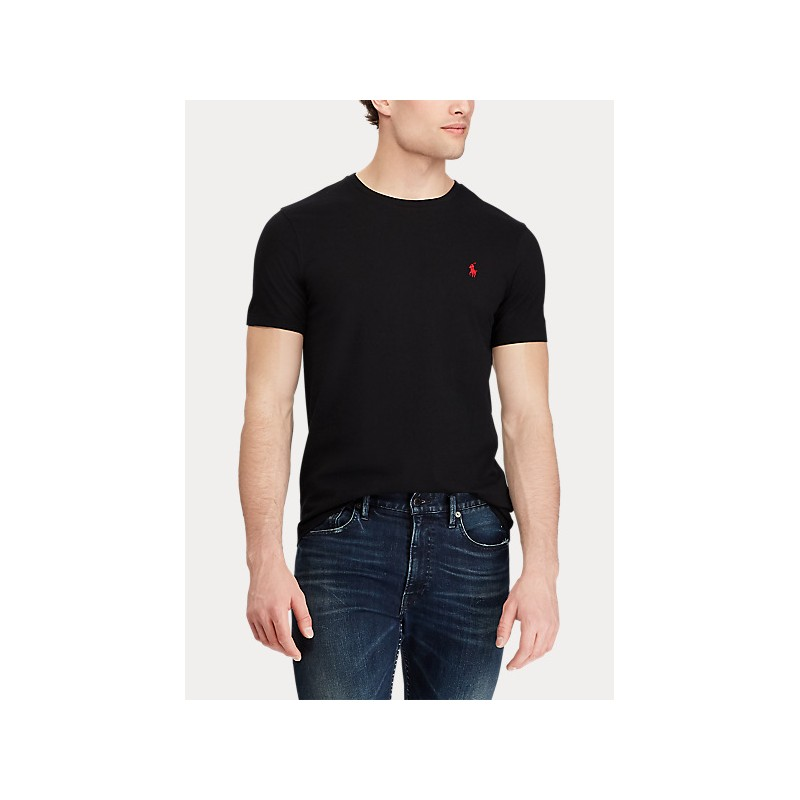 POLO RALPH LAUREN  - T-Shirt in jersey Custom Slim - Nera