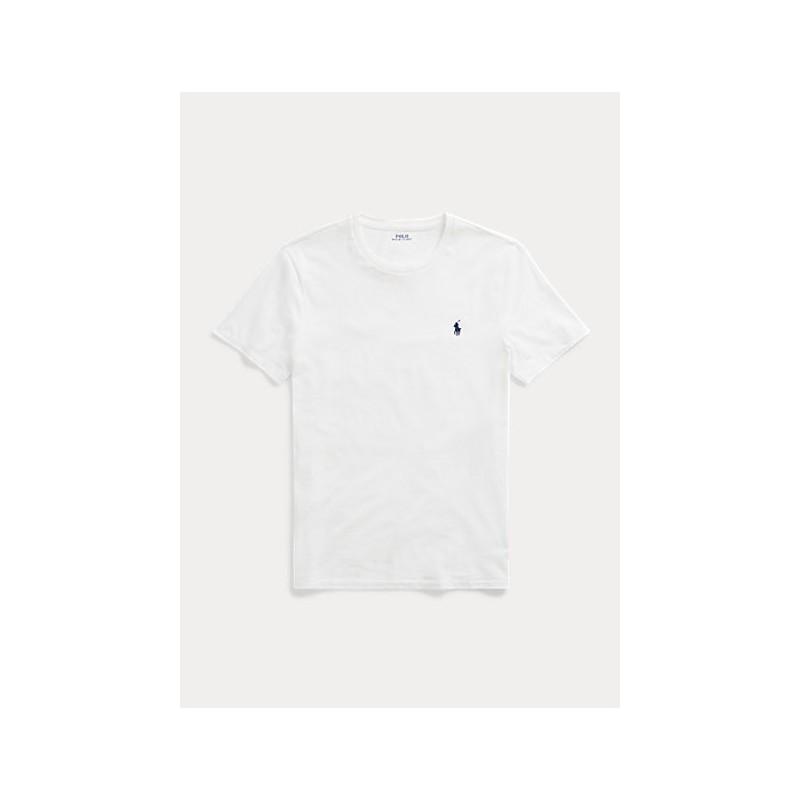 POLO RALPH LAUREN  - T-Shirt in jersey Custom Slim - Bianca