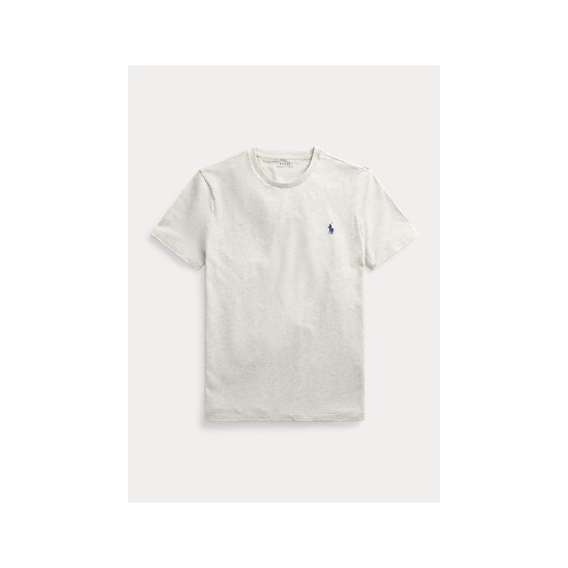 POLO RALPH LAUREN  - T-Shirt Custom Slim Basic - Grey
