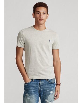 POLO RALPH LAUREN  - T-Shirt in jersey Custom Slim - Grigio