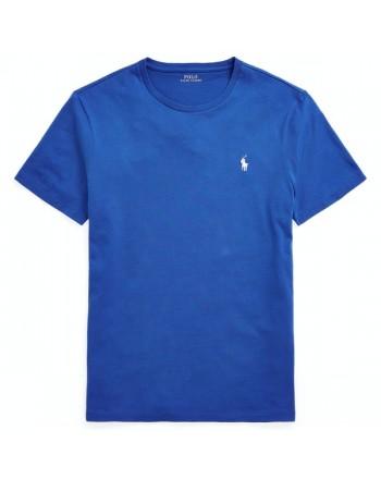 POLO RALPH LAUREN  - T-Shirt in jersey Custom Slim - Sapphire Star -