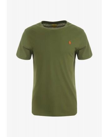 POLO RALPH LAUREN  - T-Shirt in jersey Custom Slim - Verde -