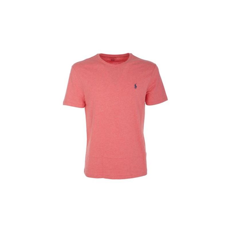 POLO RALPH LAUREN  - T-Shirt Custom Slim Basic - Rose Heather