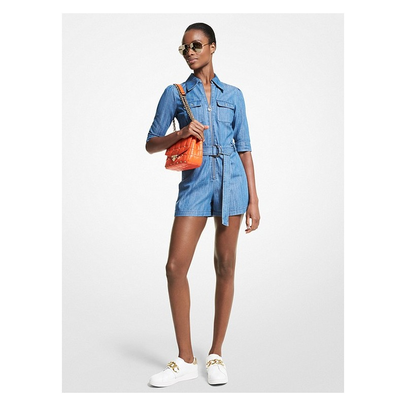 MICHAEL by MICHAEL KORS - Tuta in Denim Corta - Chambray