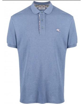 ETRO - Piquet polo shirt with embroidered Pegasus - Avion