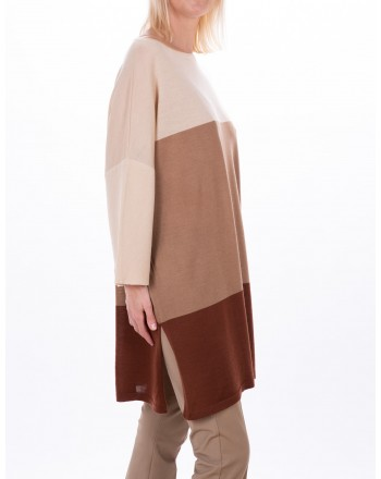 MAX MARA STUDIO - GENARCA sweater in pure new  wool - Mud/Honey