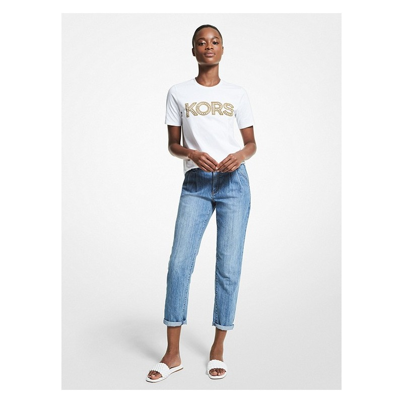 MICHAEL by MICHAEL KORS - T-Shirt in Cotone Biologico- Bianco