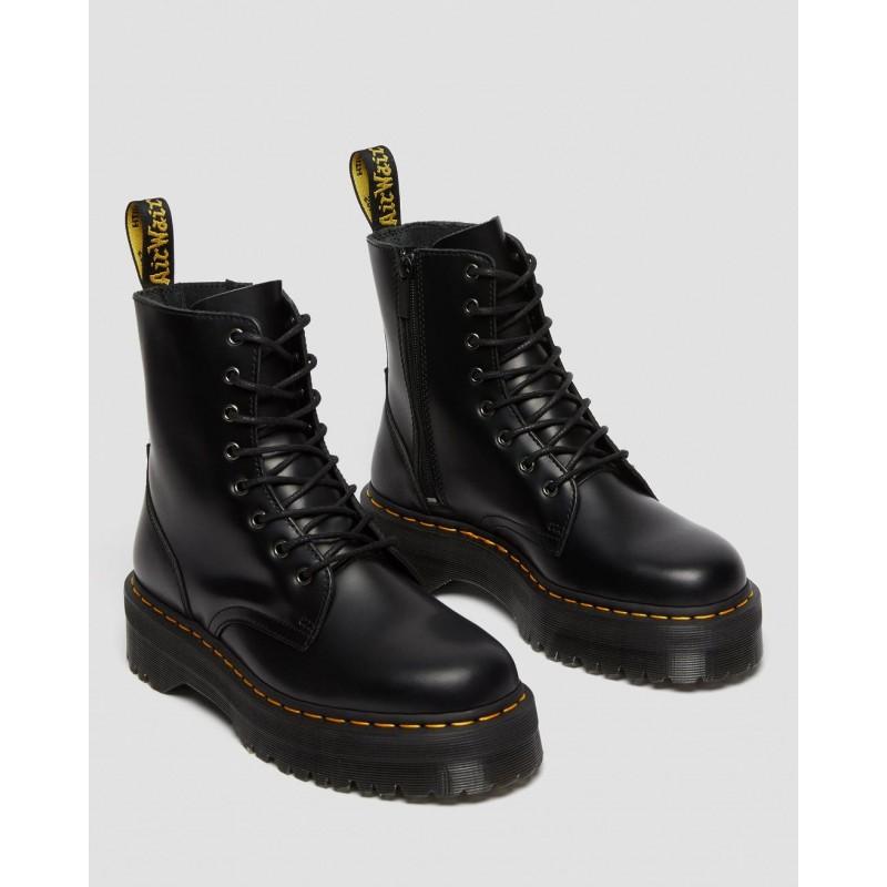 DR. MARTENS - JADON POLISHED SMOOTH Boots  - Black