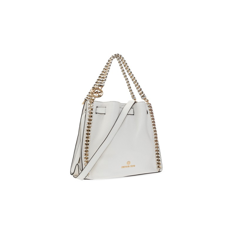 MICHAEL by MICHAEL KORS - MINA Pounded Leather Bag - Optic White