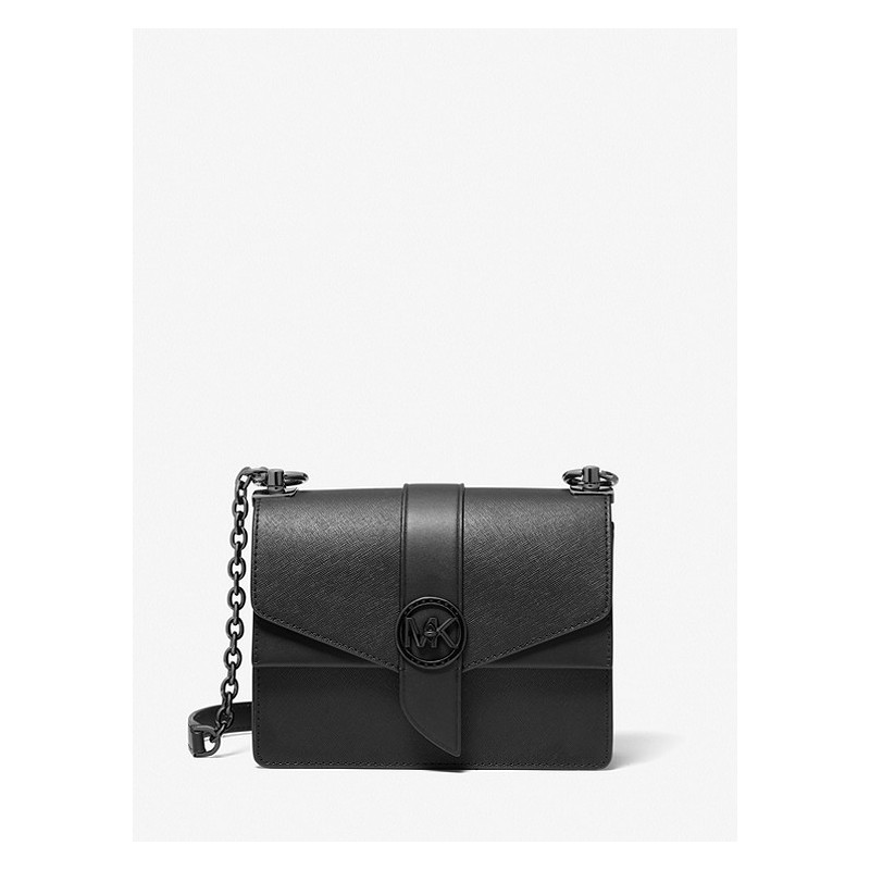 MICHAEL by MICHAEL KORS - GREENWICH  Saffiano Leather  Bag - Black