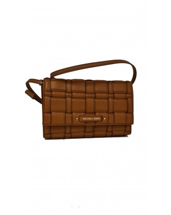MICHAEL by MICHAEL KORS - Borsa CLUTCH in Pelle Intrecciata  -Luggage