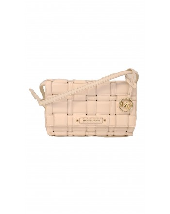 MICHAEL by MICHAEL KORS - Borsa CLUTCH in Pelle Intrecciata  -Cream