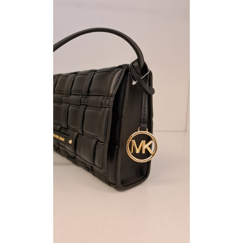MICHAEL by MICHAEL KORS - Borsa CLUTCH in Pelle Intrecciata  -Nero