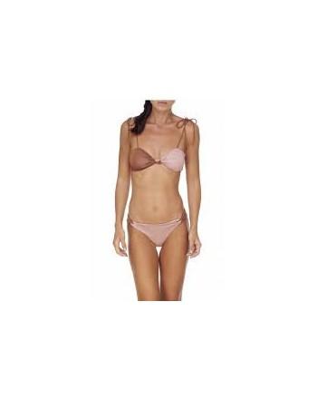 ME FUI - Lurex Bandeau Bikini - Bronze