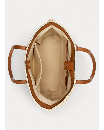 POLO RALPH LAUREN  - Straw Whitney  Shopping Bag - Natural/Lauren Tan -