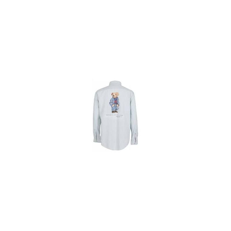 POLO RALPH LAUREN  -   Camicia Stampa Orso - Denim -