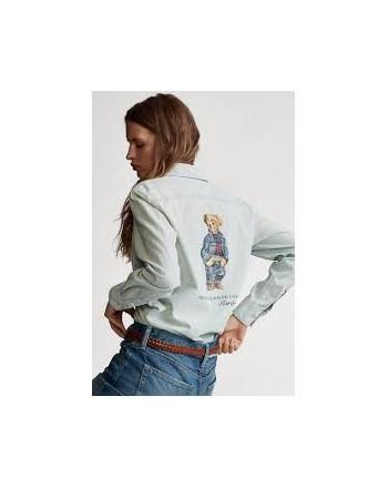 POLO RALPH LAUREN  - Print Bear Shirt - Denim -