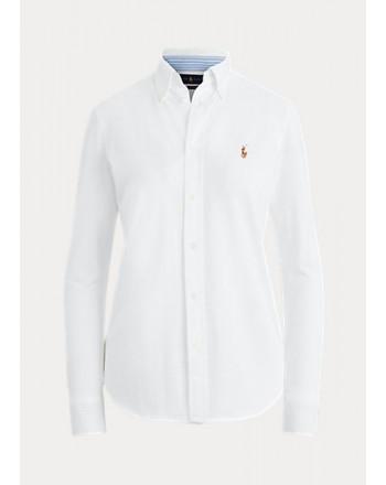 POLO RALPH LAUREN  - Shirt in jersey Slim - Bianco -