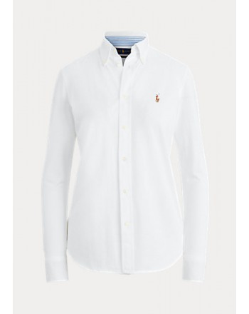 POLO RALPH LAUREN  -  Slim Fit  Jersey Shirt  - White -