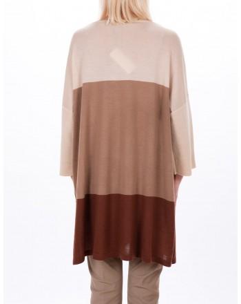 MAX MARA STUDIO - GENARCA sweater in pure new  wool - Mud/Honey