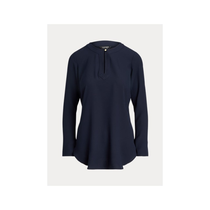 POLO RALPH LAUREN  -  Camicia in georgette  - Blu -