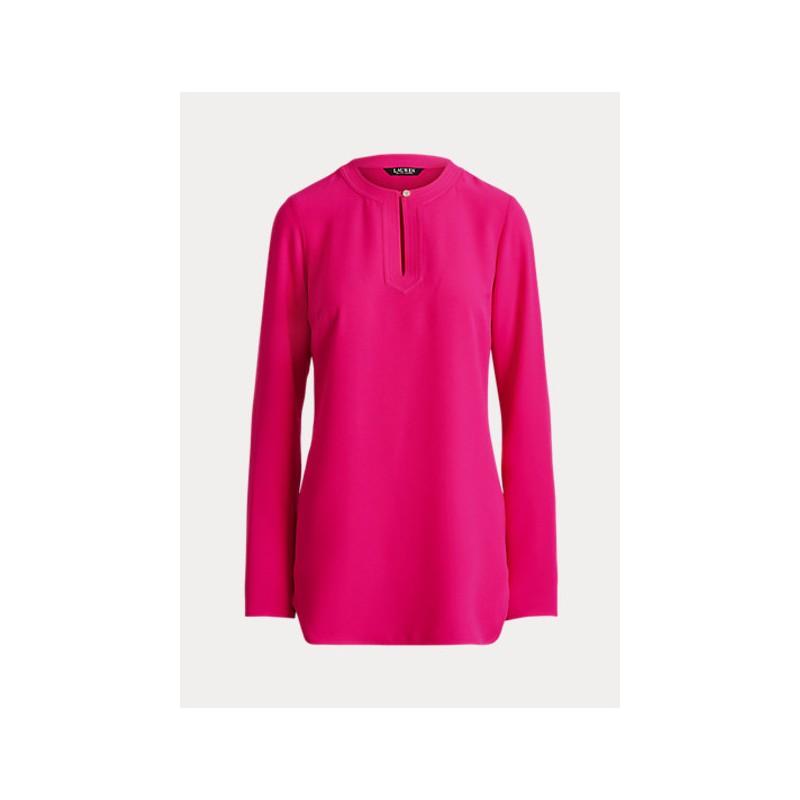 POLO RALPH LAUREN  -   Camicia in Georgette  -Fuxia -