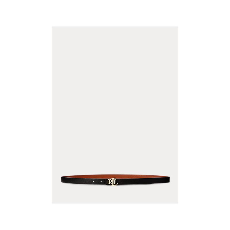 POLO RALPH LAUREN  - Cintura 2 Cm - Nero/Lauren Tan -