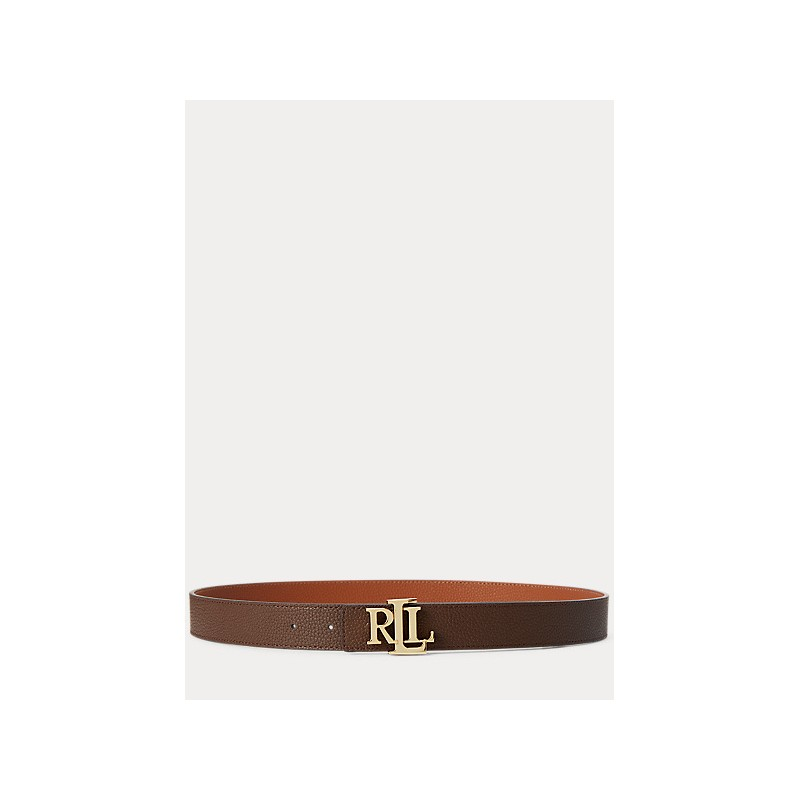 POLO RALPH LAUREN  -Reversible Leather Belt  3 Cm - Leather  Tan/Brown -