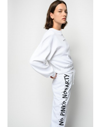 PINKO - ENOLOGIA JOGGERS IN FELPA No PINKO NO PARTY - BIANCO