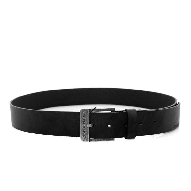 CALVIN KLEIN - Leather Belt - Black