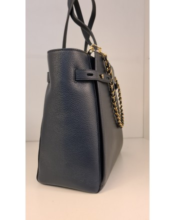 MICHAEL by MICHAEL KORS - Borsa Shopping in Pelle CARMEN -Navy