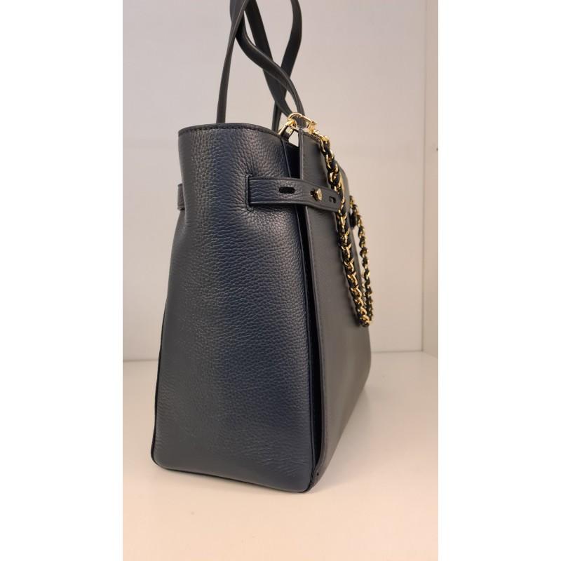 MICHAEL BY MICHAEL KORS - CARMEN Leather Shopping Bag - Navy